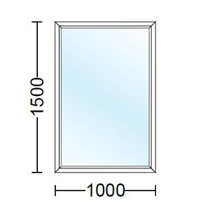 قیمت پنجره دو جداره آلومینیوم تک لنگه ثابت
