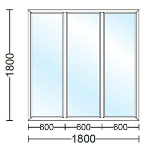قیمت پنجره دو جداره آلومینیوم سه لنگه ثابت