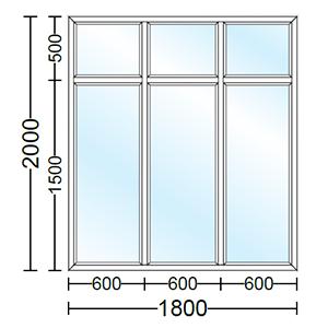 قیمت پنجره دو جداره آلومینیوم سه لنگه