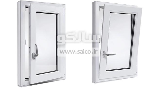 salco.ir - سیستم لولایی دوحالته در و پنجره دوجداره آلومینیومی ۲