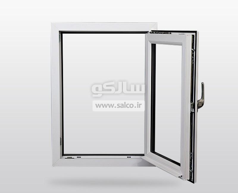 salco.ir - سیستم لولایی دوحالته در و پنجره دوجداره آلومینیومی