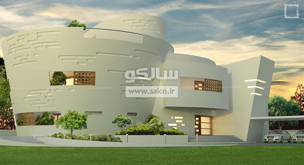 سبک آتی برای نمای ساختمان UFO