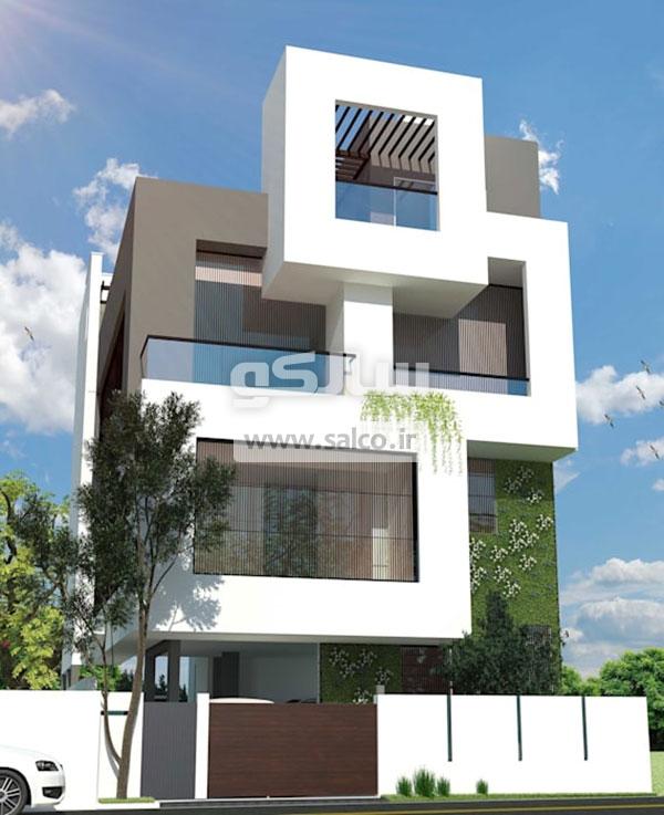ترکیب نمای ساختمان با بلوک های مجزا