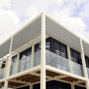 نرده شیشه ای تک ستونی (پایه دار)